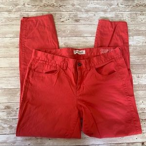 Madewell Skinny Ankle Jeans Red